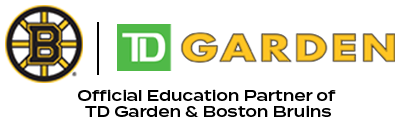 Boston Bruins TD Garden official education partner logo