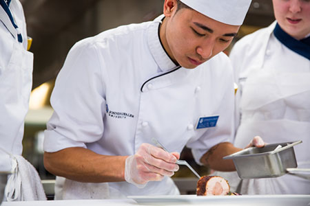students in chef coats