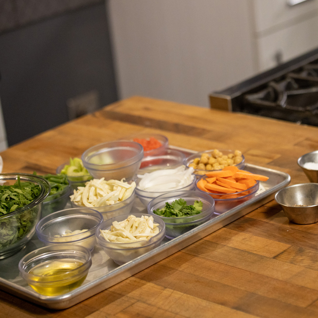 Setting your mise en place is crucial.