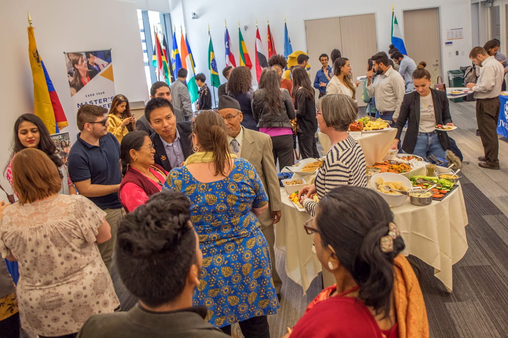 A grad mixer for international students.