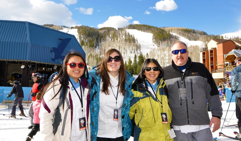 JWU Denver students on a ski trip to Vail.