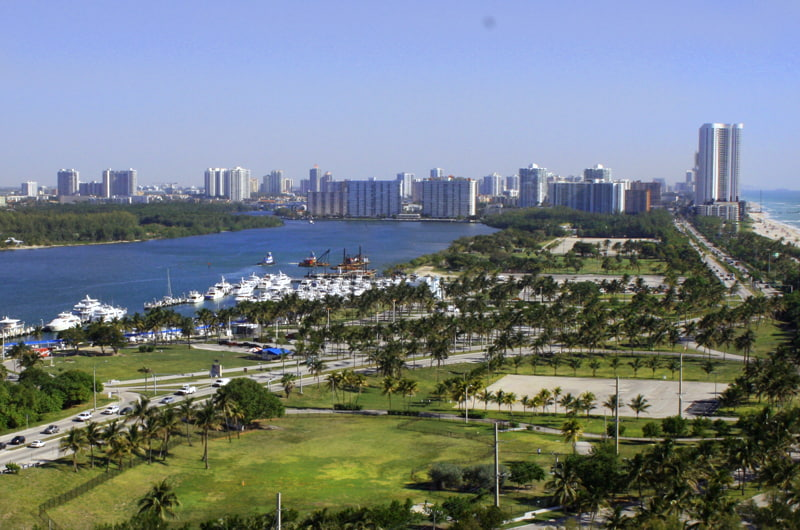 Landscape view of Miami