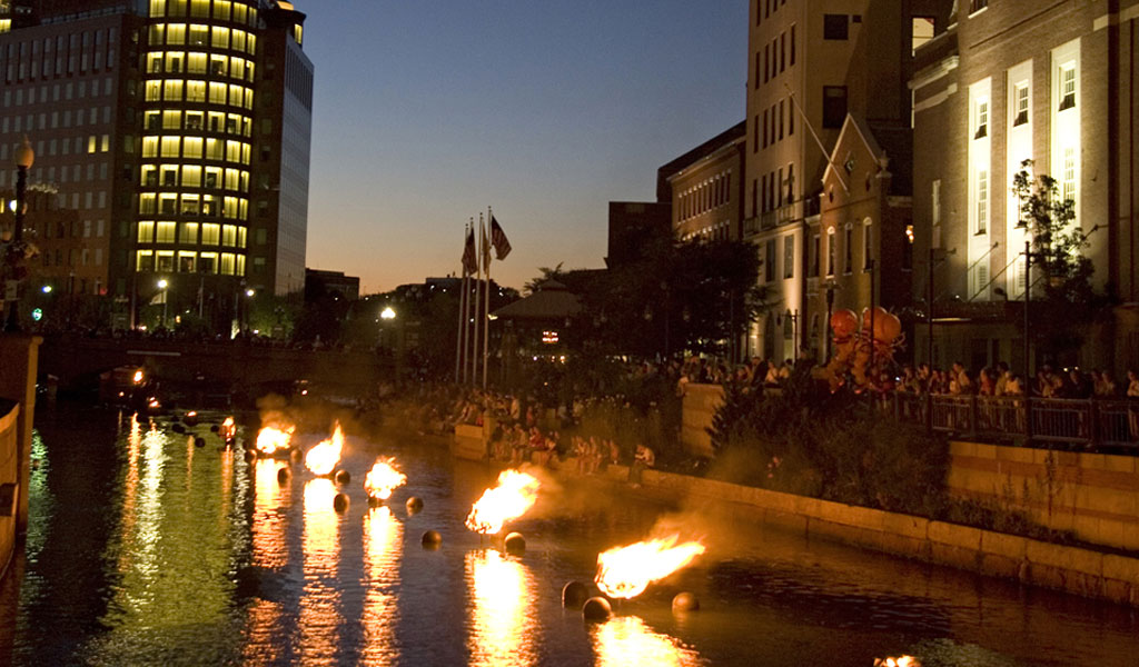 WaterFire lights up downtown Providence