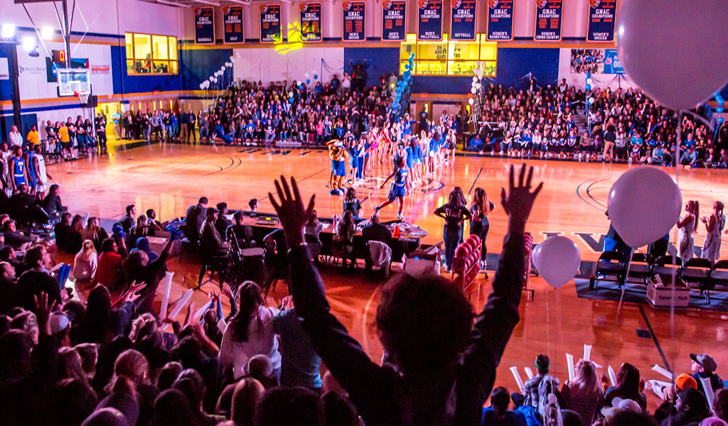 students section at a basketball game
