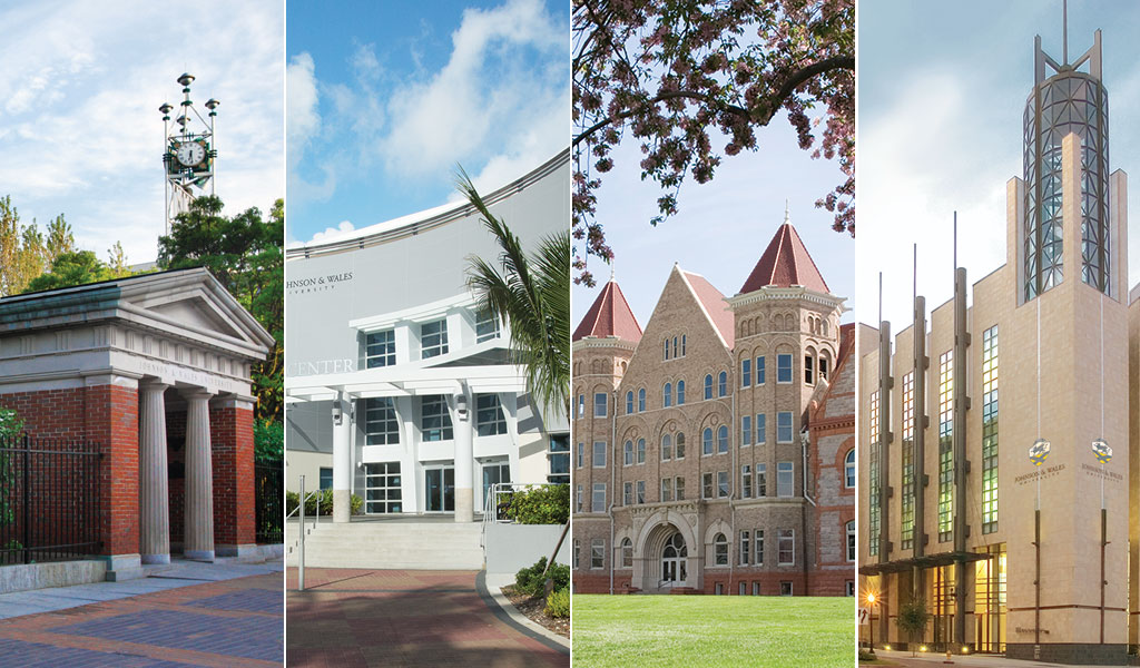 image grid of 4 campuses