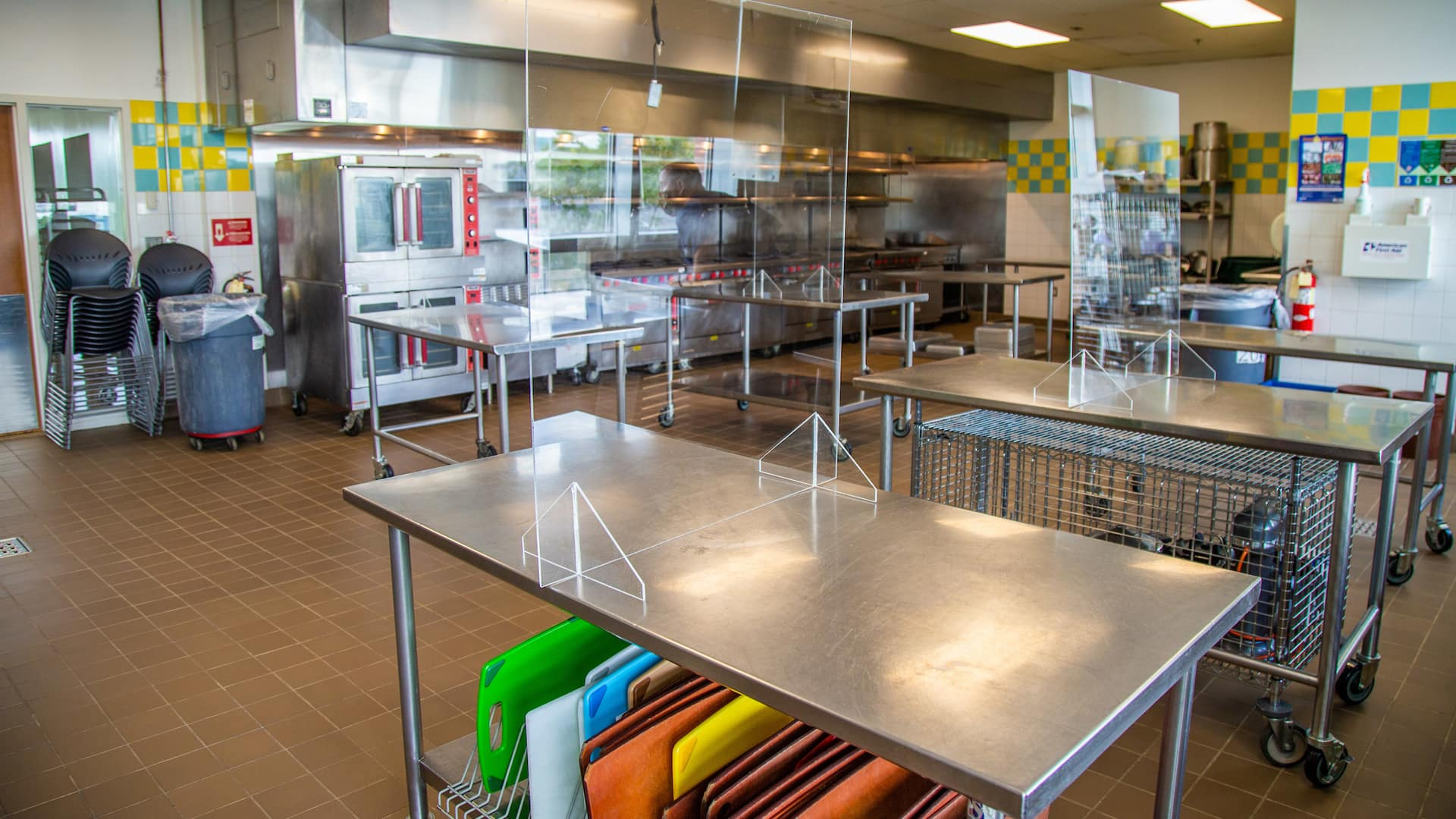 Lab Setup of the JWU Providence Culinary Reopening